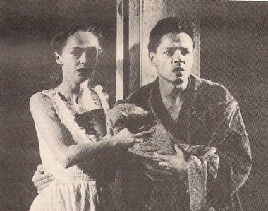 И.Скляр (Ставрогин) иА.Неволина (Лиза) нарепетиции «Бесов»  ФотоВ.Васильев