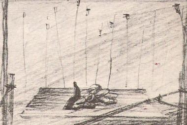 Э.Кочергин. Рабочиерисунки кспектаклю «Братьяисестры», 1985г.  Фоторепродукция Б.Стукалова