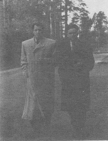 И. Горбачев и Б. Лескин. Фото из архива В. С. Голикова