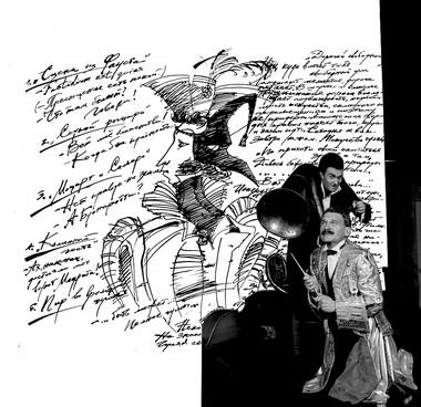 Н.Сорокин (Сальери),  А.Шкрябин (Моцарт). А.С.Пушкин. «Маленькие трагедии». Фото В.Погонцева