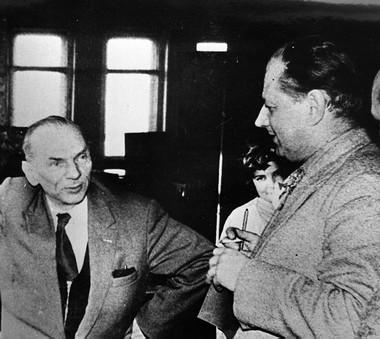 Н.П.Акимов иП.П.Панков. Фото изсемейного архива
