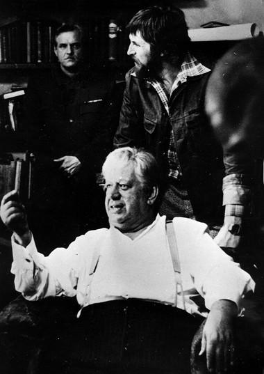 П.Панков насъемках фильма «Верой иправдой». Режиссер А.Смирнов. Фото изсемейного архива