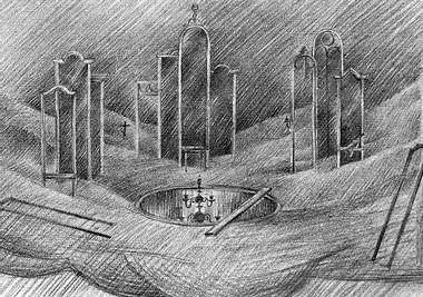 Э.Кочергин. «Вишневый сад». Эскизы декораций. Фото Б.Стукалова