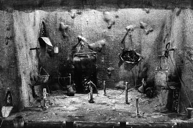 Э.Кочергин. «История лошади». Макет оформления спектакля. Фото изархива автора