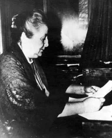 А.Ахматова. Конец 1950-х годов. Фото из Музея А.Ахматовой