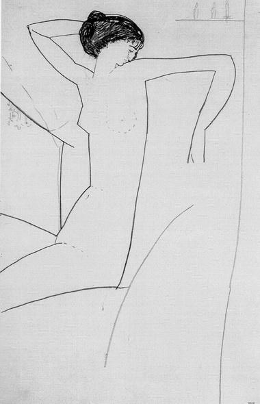 А.Модильяни. Сидящая обнаженная. 1910 г.