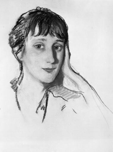 З.Серебрякова. Портрет Анны Ахматовой. 1922 г.  Из собрания Э.Мак-Бикер.
