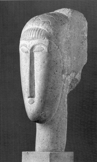 А.Модильяни. Скульптура, в которой усматривают портретное сходство с А.Ахматовой