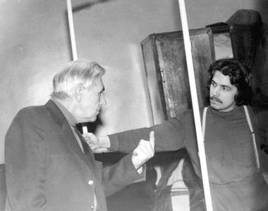 М.В.Сулимов на репетиции в классе. 1980 г. Фото из семейного архива