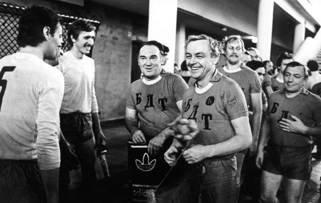 Команда БДТ на футбольном матче с журналистами, 1979г.