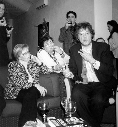 А.Фрейндлих, переводчица Е.Гомберг, П.Семак, Т.Стоппард навстрече Т.Стоппарда сактерами БДТ. Фото М.Дмитревской