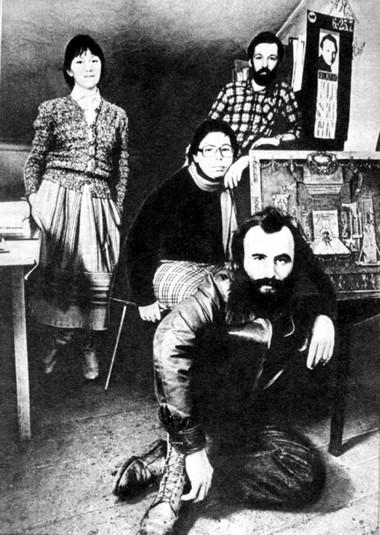 ИринаЧередникова, ОльгаЗемцова,  ВалерийВикторов, АлександрОрлов.1984г. ФотоЮ.Белинского