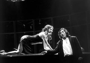 М.Жукова (Виолетта), М.Гареев (Альфред). «Травиата». Театр «Новая опера». Фото М. Гутермана