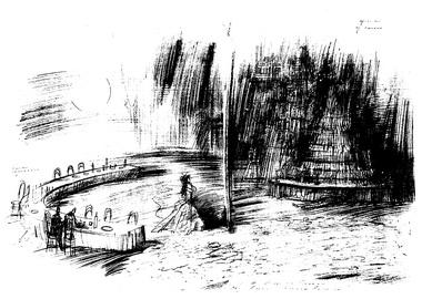 «Без вины виноватые» А.Островского. Театр «Балтийский дом». 1999. Эскиз