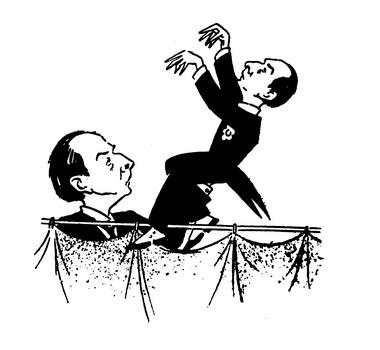 Дружеский шарж И.Гинзбурга. 1940г. Фото изархива автора