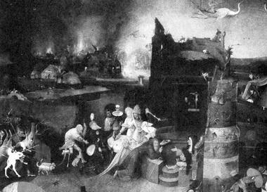 И.Босх. «Искушение св. Антония». Алтарный триптих. Фрагмент