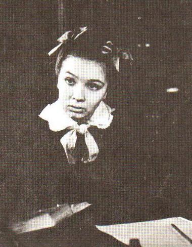 Н. Тенякова (Машенька). Учебный спектакль ЛГИТМиК, класс Б.В. Зона, 1965г. Фото измузея СПГИТМиК