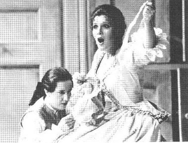 С. Макнэр (Сюзанна), М.Бачелли (Керубино). «Свадьба Фигаро»