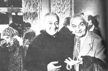 Резо Габриадзе и Натан Перельман. 1991 г. Фото А. Чепакина