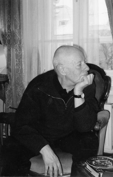 В гостях у Э. Аксера. Фото М. Дмитревской