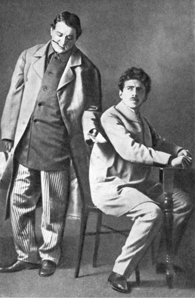 Н.Н.Ходотов (Йервен), В.Э.Мейерхольд (Карено). «Уцарских врат» К.Гамсуна. 1908г.