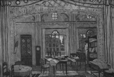Декорация А.Я.Головина кспектаклю «Уврат царства» К.Гамсуна