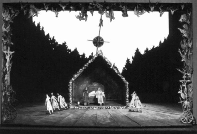 Макет кспектаклю «Волшебный стрелок». Баварская опера