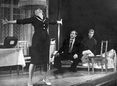 Сцена изспектакля. БДТ.1961г. Фотоизархиважурнала