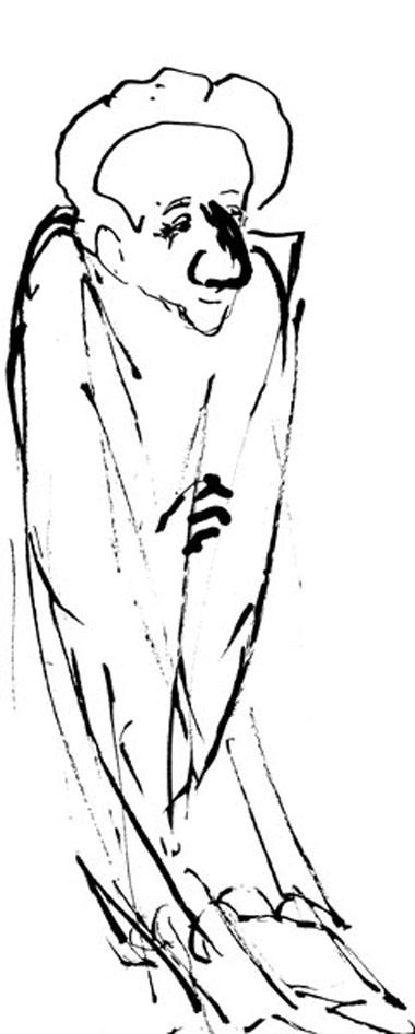 Володин. Рисунок Р. Габриадзе