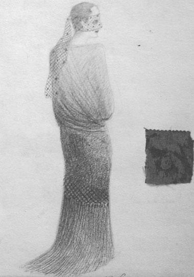 Эскизы костюмов Норы кспектаклю«Нора». Александринскийтеатр