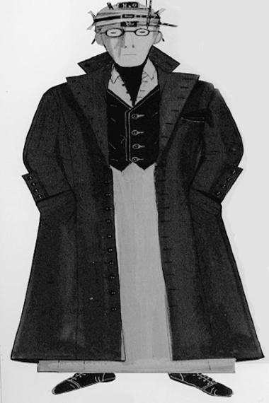 ЭскизкостюмаРозенталя (автор—Н.Гультяева). Фотоизбуклета кспектаклю