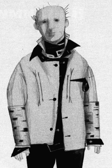 ЭскизкостюмаМусоргского (автор—Н.Гультяева). Фотоизбуклета кспектаклю