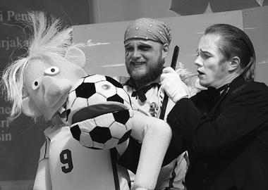 «Классический футбол». Театр«Черноеибелое»(Иматра). Фотоизархивафестиваля