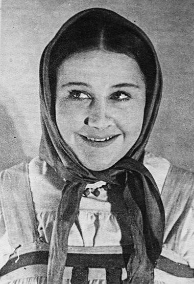 Настя. «Барышня-крестьянка». 1950г. ФотоизархиваИ.Слободской