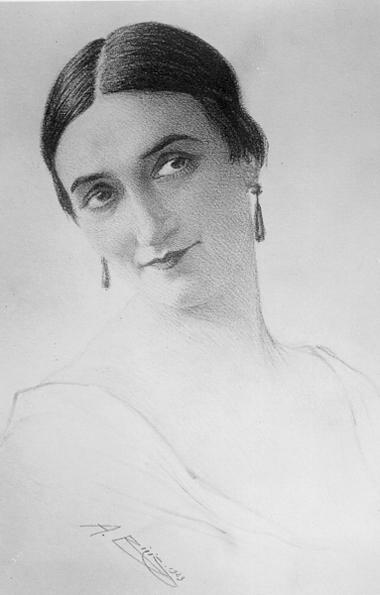 О.Слободская.1923г. Рисунокизархива И.Слободской