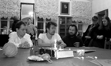 «Странник». Сцена из спектакля. «Братья Хоукка». Фото В. Луповского