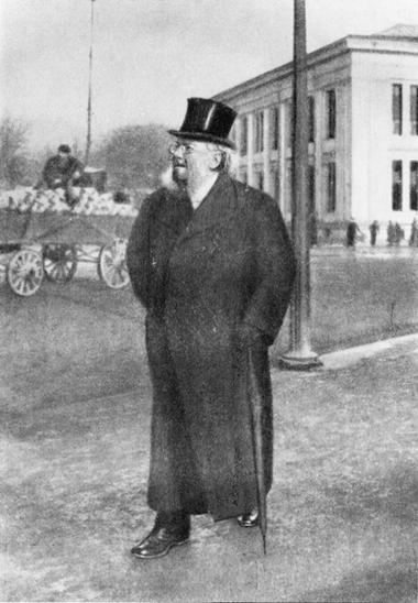Г.Ибсен напрогулке. Кристиания. 1902г.
