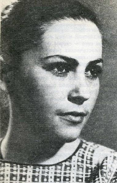 Генриетта Яновская - студентка ЛГИТМиК. 1966 г. Фото из архива Петербургской Академии театрального искусства