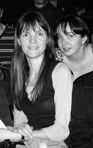 К. Матвиенко и Е. Гороховская на обсуждении в зале Екатеринбургского ТЮЗа. Фото М. Дмитревской