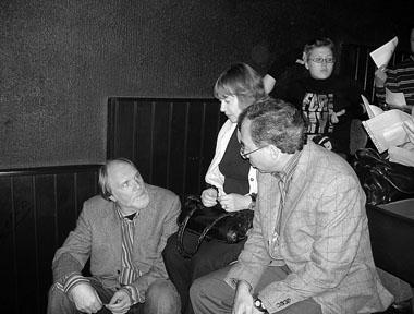 О. Лоевский, Г. Брандт, Л. Закс: обсуждение отрывков. Фото М. Дмитревской