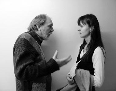К. Матвиенко и О. Лоевский в перерыве между отрывками. Фото М. Дмитревской