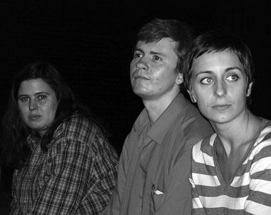 Участники Мастерской К. Зорина, С. Щипицин, К. Митрофанова. Фото М. Дмитревской