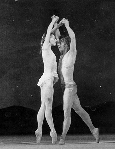 М. Барышников (Дафнис), Т. Кольцова (Хлоя). «Дафнис и Хлоя». Фото из архива А. Заргарьянца