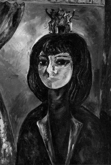 С. Аршакуни. Портрет М. Азизян. В 1968 году художник, видимо, предполагал, что в сознании Азизян родится и будет плясать у нее на голове кукольный театр