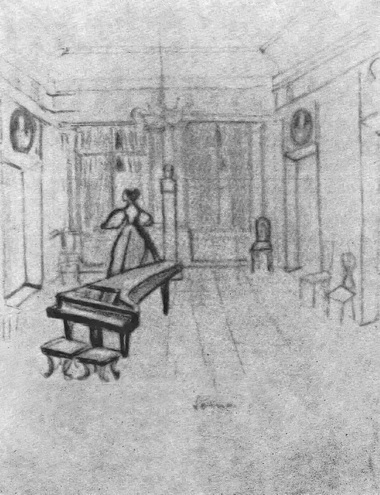 С. Выспянский. Эскиз к спектаклю «Варшавянка. Песнь 1831 года»