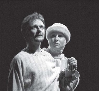 П. Курочкин (царь Федор), С. Лызлова (царица Ирина). Фото А. Тульнова