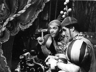 В. Морозов (Мари), В. Чернявский (Синяя Борода). «Синяя Борода». 1990. Фото из архива Театра сказки