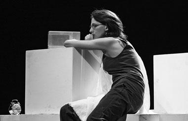 А. Еминцева (Эмилия). «Работа актера над собой». Фото Ю. Богатырева