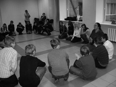 Обсуждение спектакля. Фото из архива автора