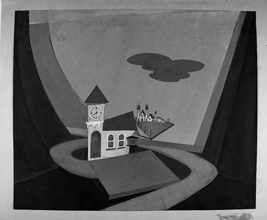 Н. Иванова. Эскиз декораций к спектаклю «Волшебное стеклышко». 1963 г.